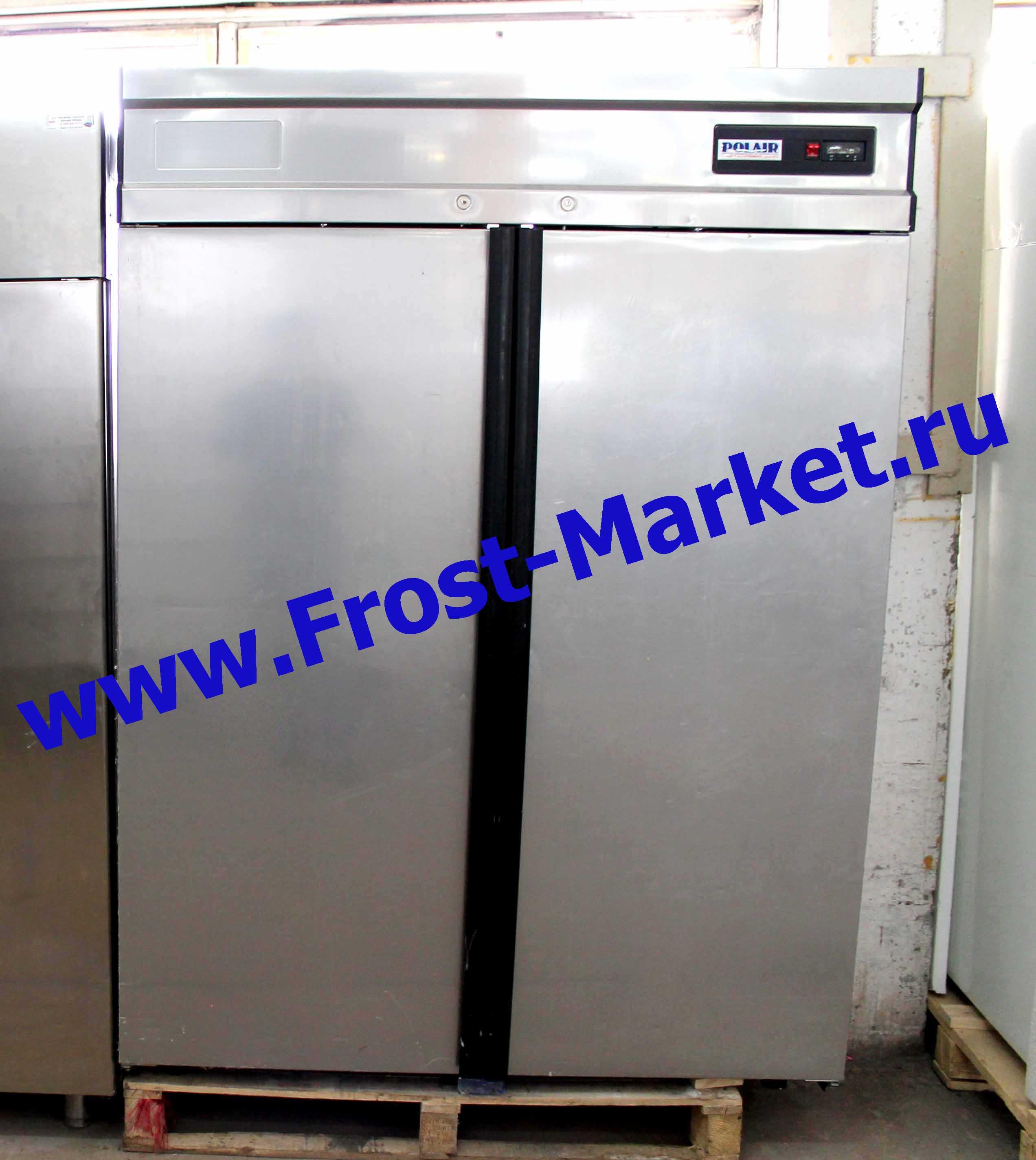 Холодильный шкаф б у Polair CM 114-G (ШХ-1,4 нерж)