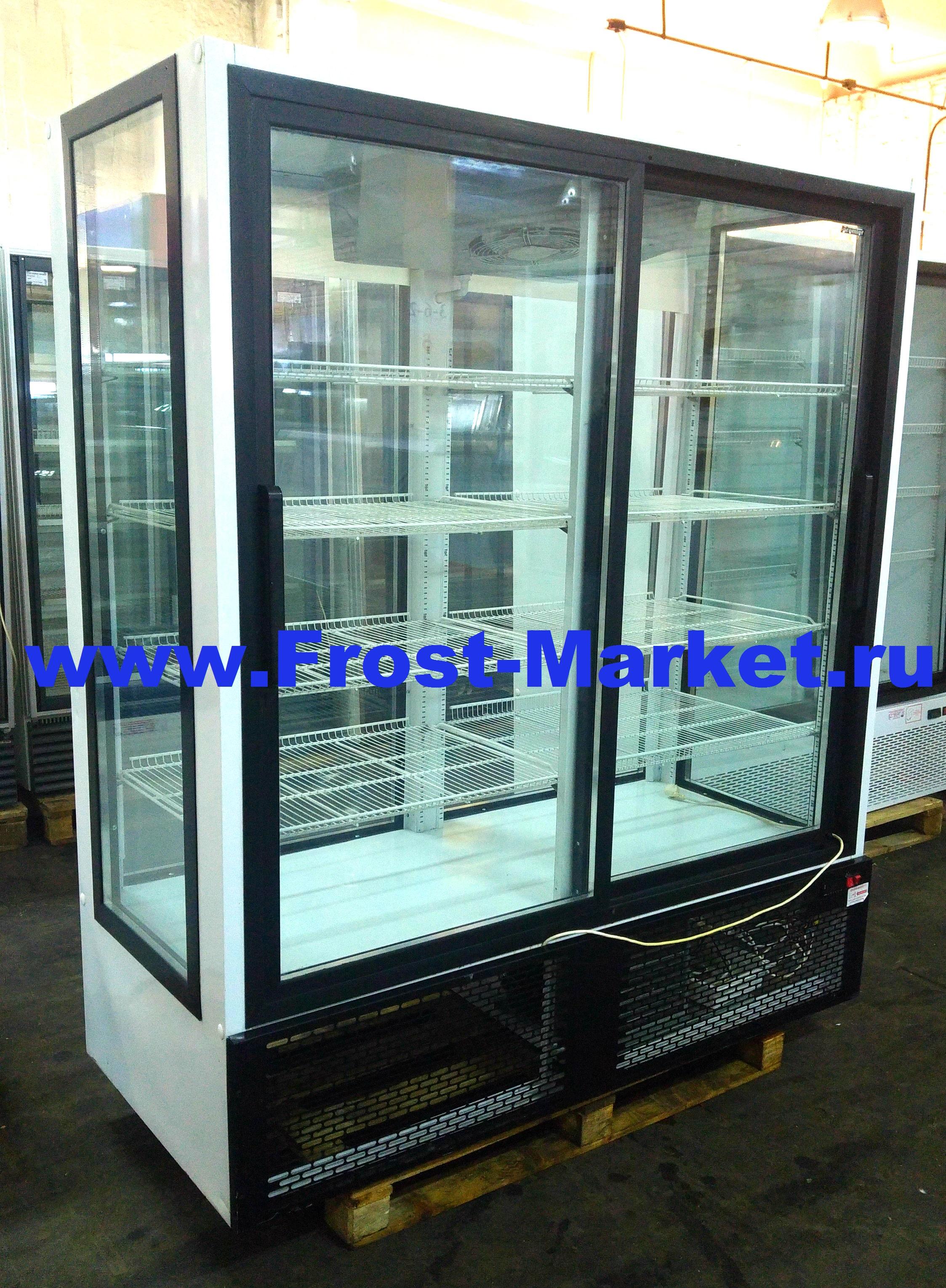 Холодильный шкаф б у Премьер 1,5 K4 купе (остекление 4-х сторон)