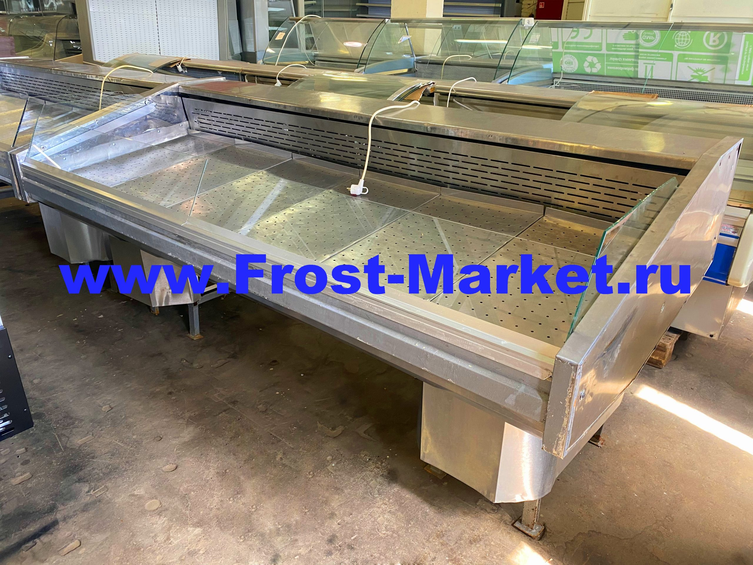 Витрина холодильная бу Рыба на льду Кифато Корсика 2400