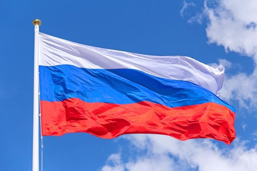 Акция в честь дня флага России