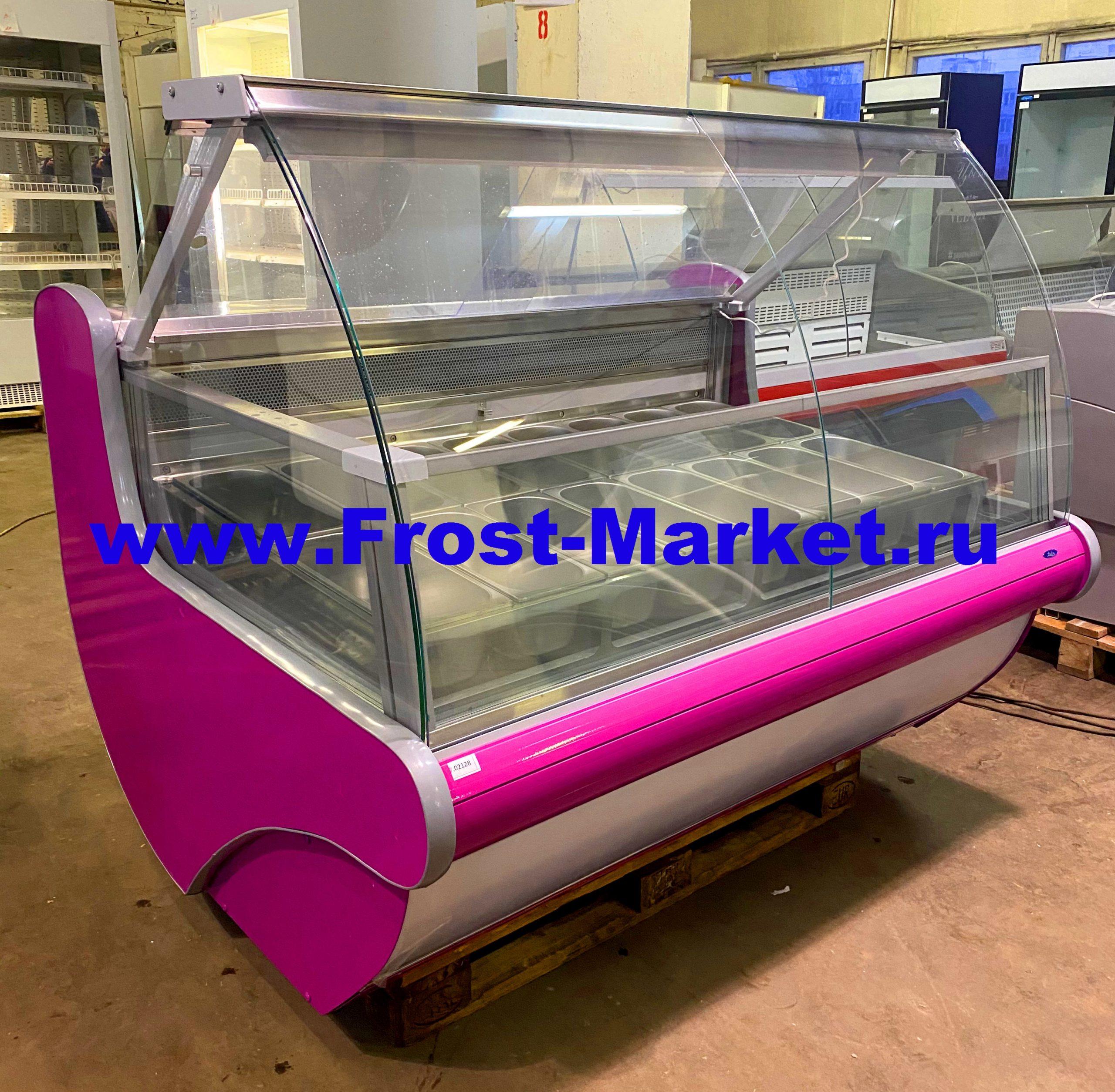 Витрина для мороженого Иней Lida Junior Lightbox M 1.5 бу