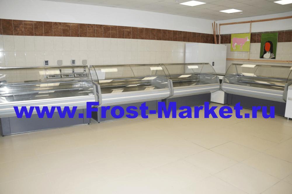 Холодильные витрины бу Гольфстрим Двина для продовольственных магазинов