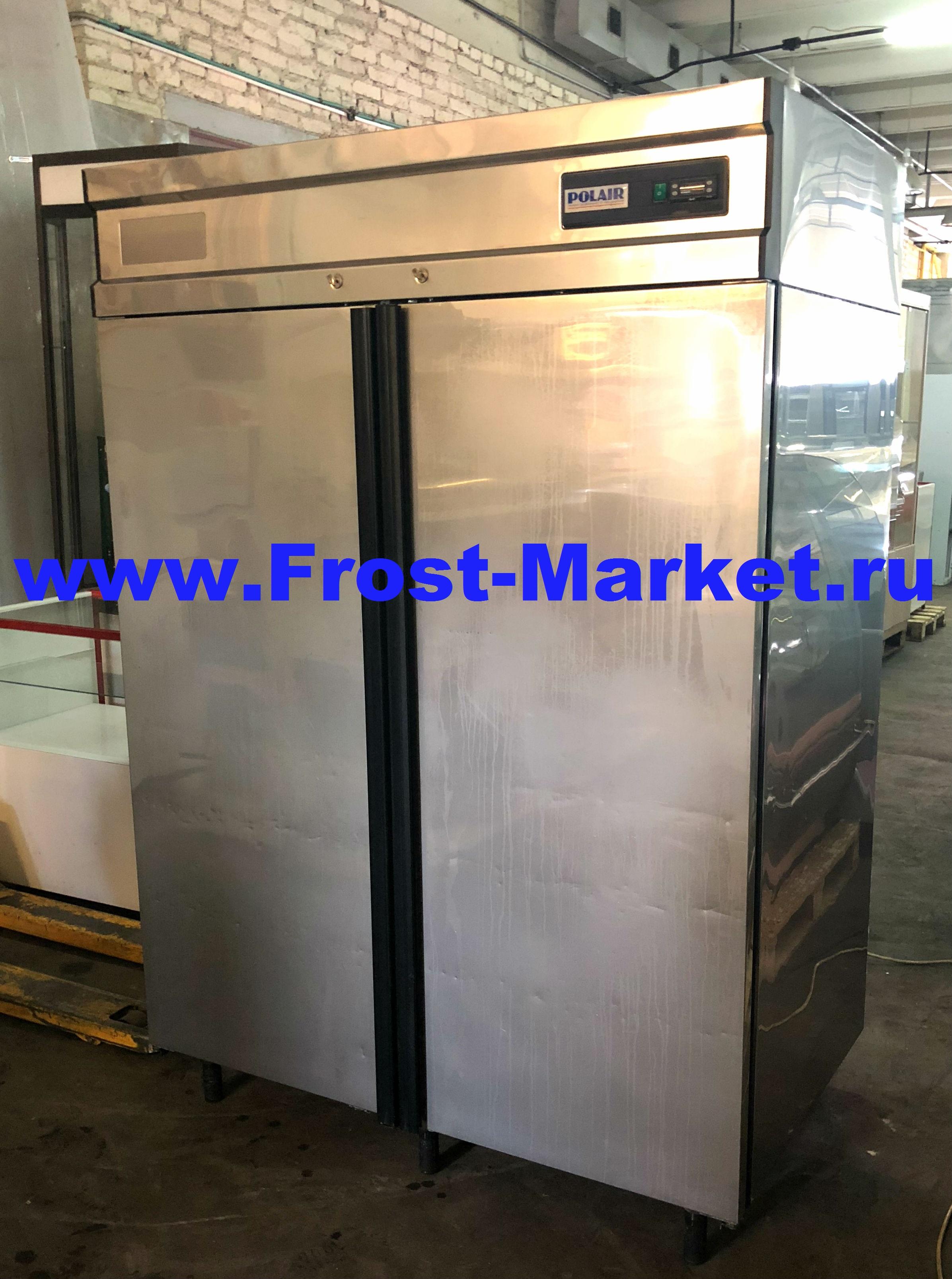 Морозильный шкаф б у Polair CB114-G нерж.